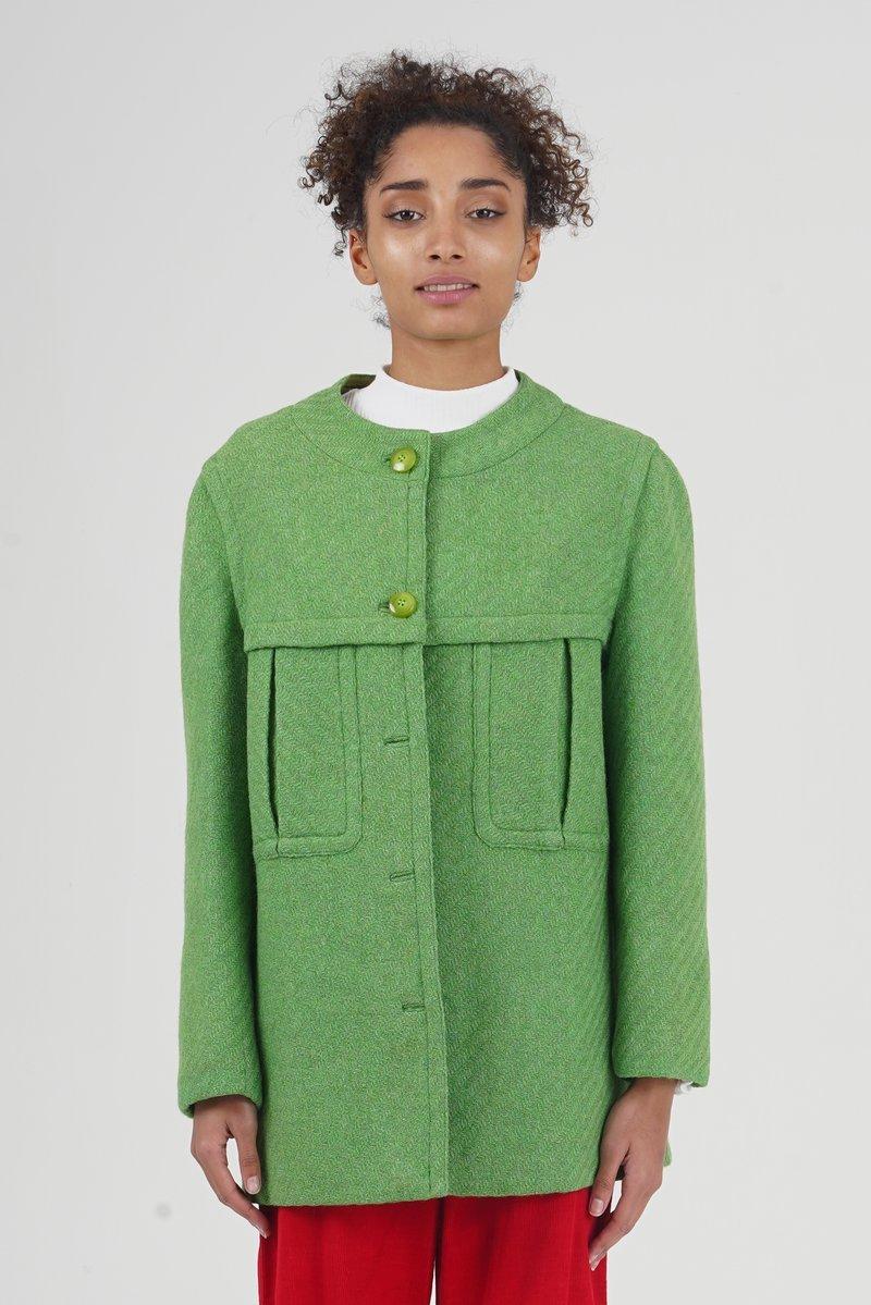 Vintage 60's Yves Saint Laurent Emerald Green Coat