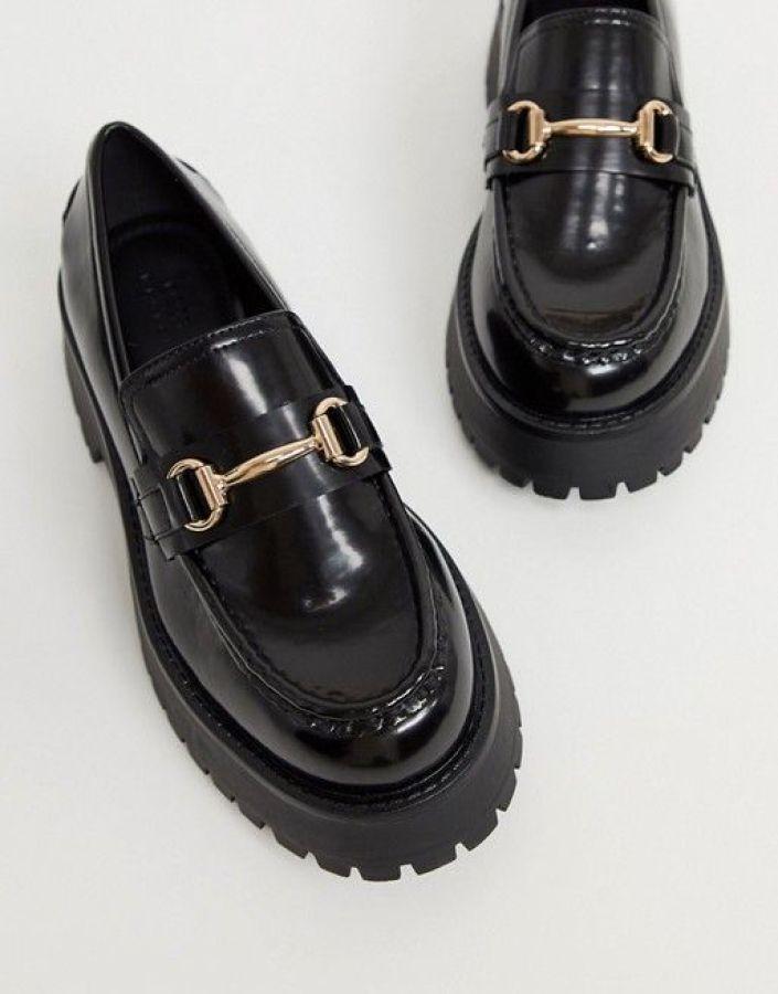 ASOS DESIGN Monster chunky loafers in black