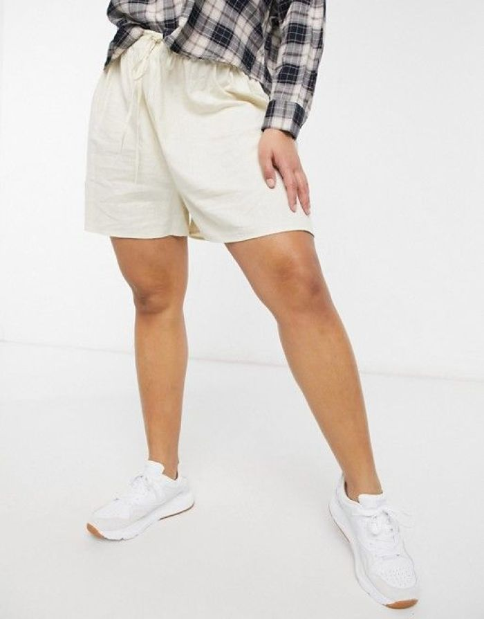 Cotton:On Curve pull on shorts in beige