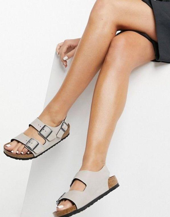 Birkenstock Exclusive Milano sandals in vegan stone