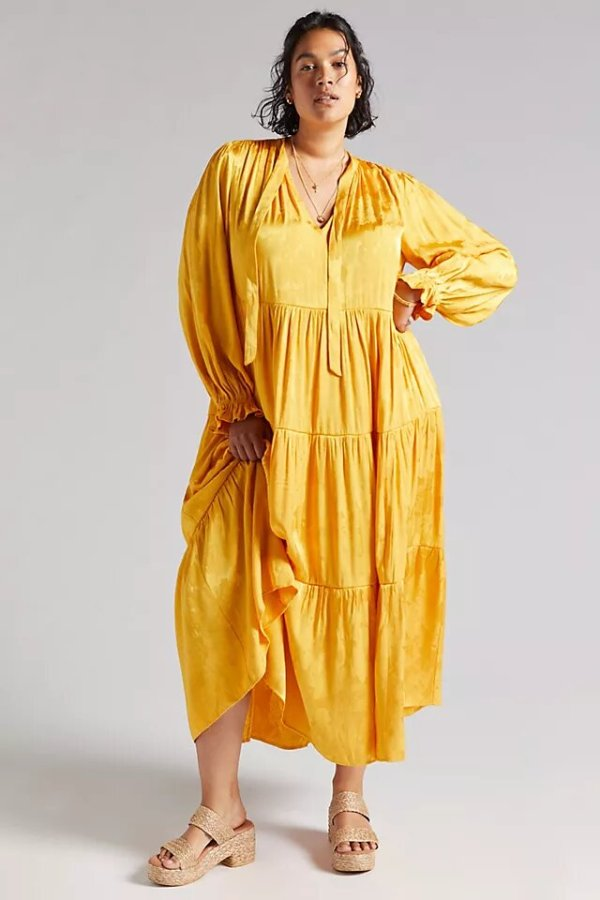 Anthropologie Maeve Tiered Maxi Dress
