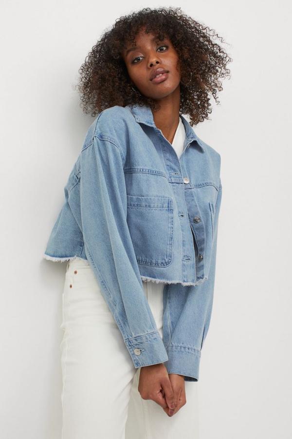 H&M Cropped Twill Jacket