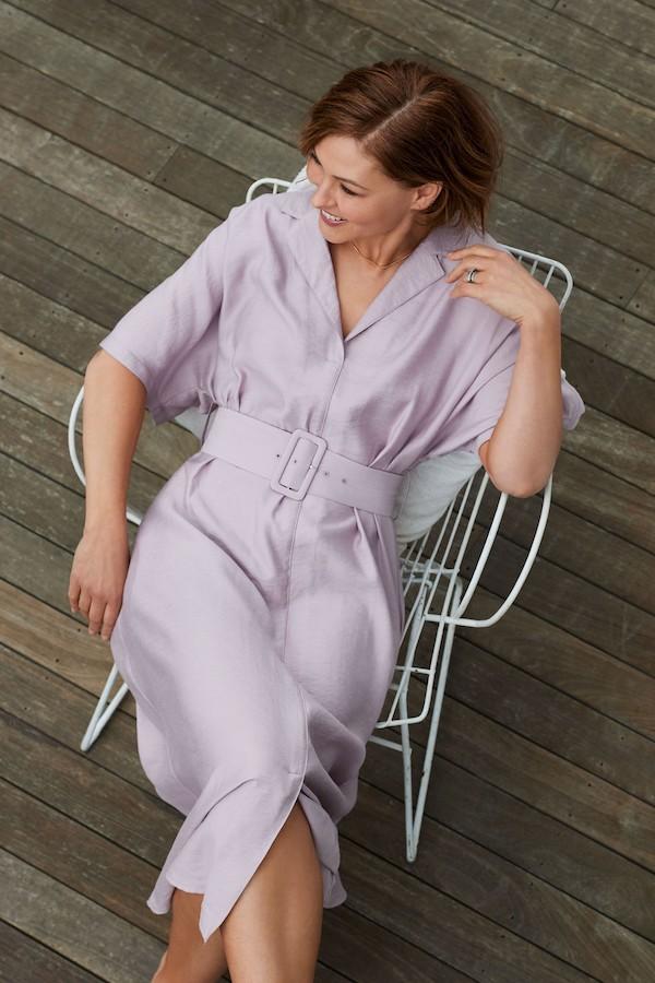 Lilac Emma Willis Belted Midi Dress