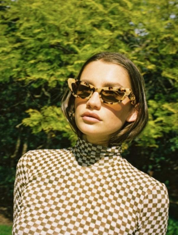 Cygnus Cream Torti Sunglasses Poppy Lissiman