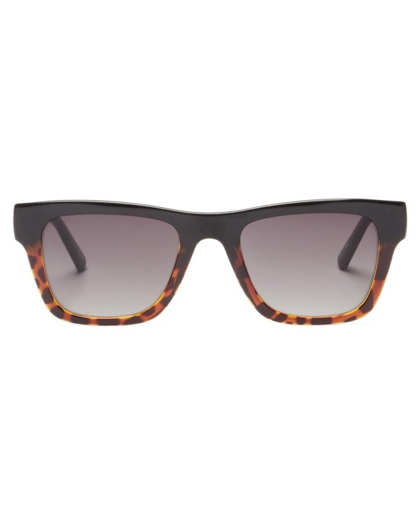 Le Specs Black Le Phoque Bi-colour Square Sunglasses
