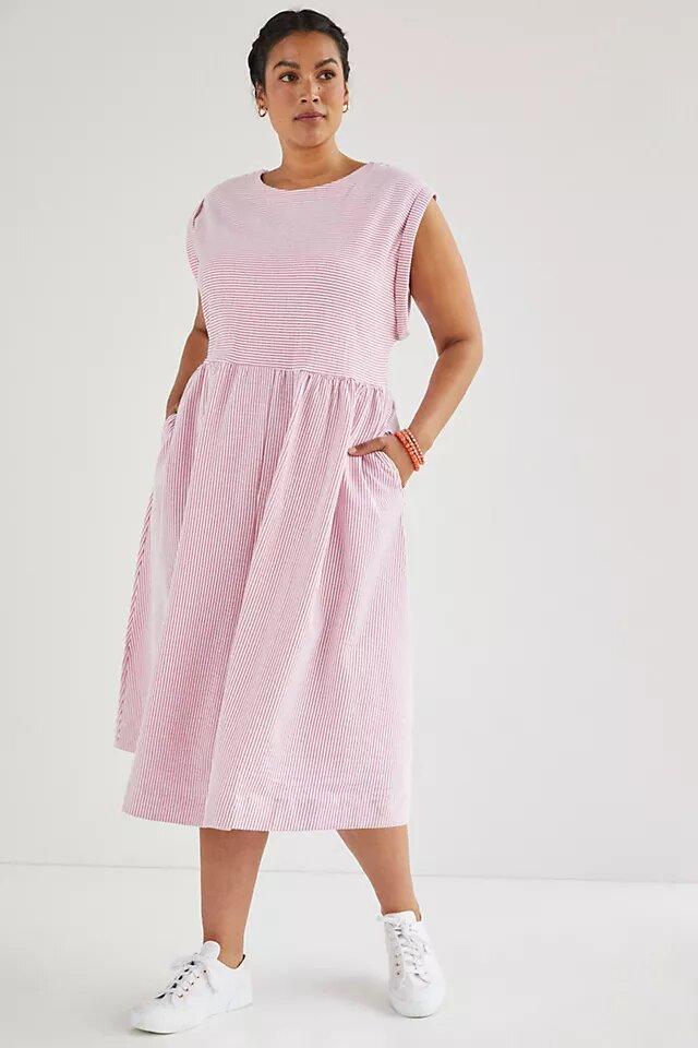 Maeve Everyday Midi Dress anthropologie