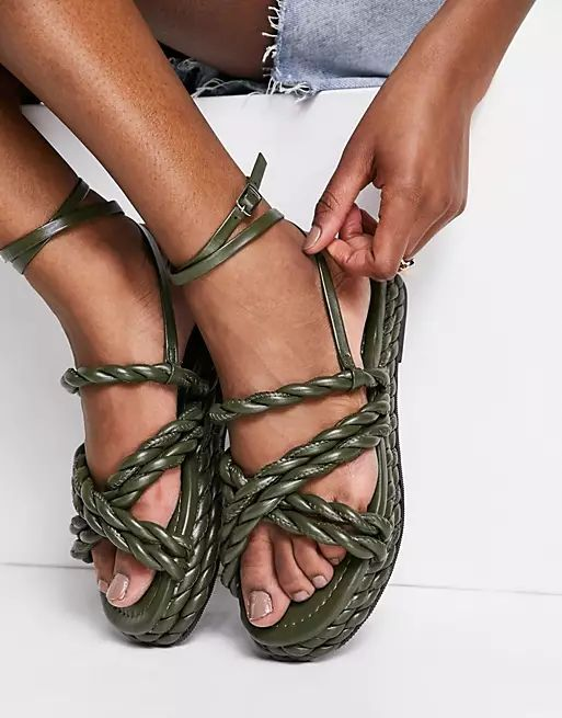 Franky Rope Flat Sandals asos