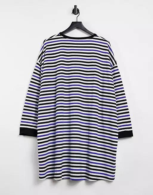 ASOS Curve Oversized Long Sleeve T-Shirt Dress
