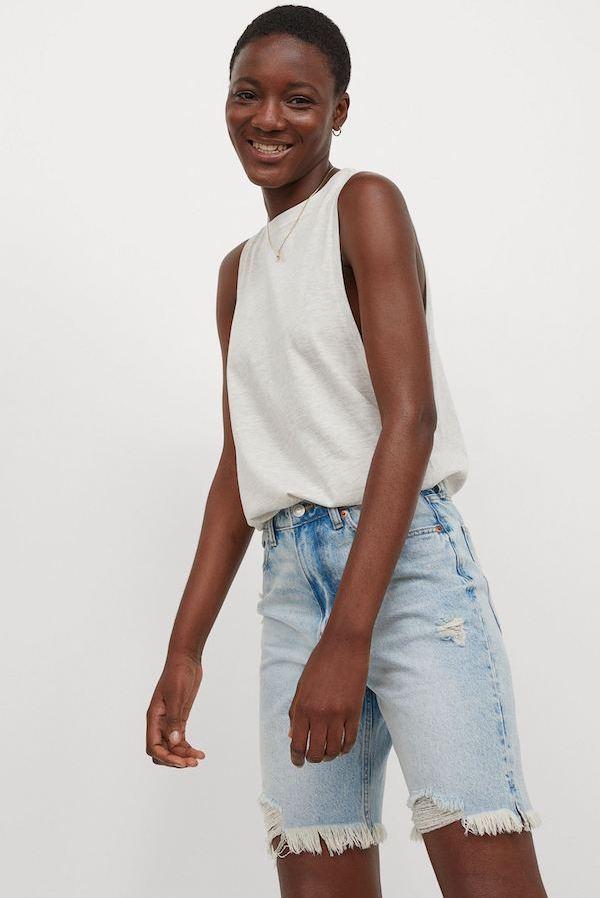 Bermuda Denim Shorts, £24.99, H&M
