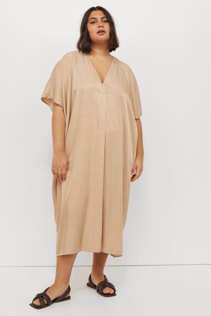 V-neck Kaftan Dress