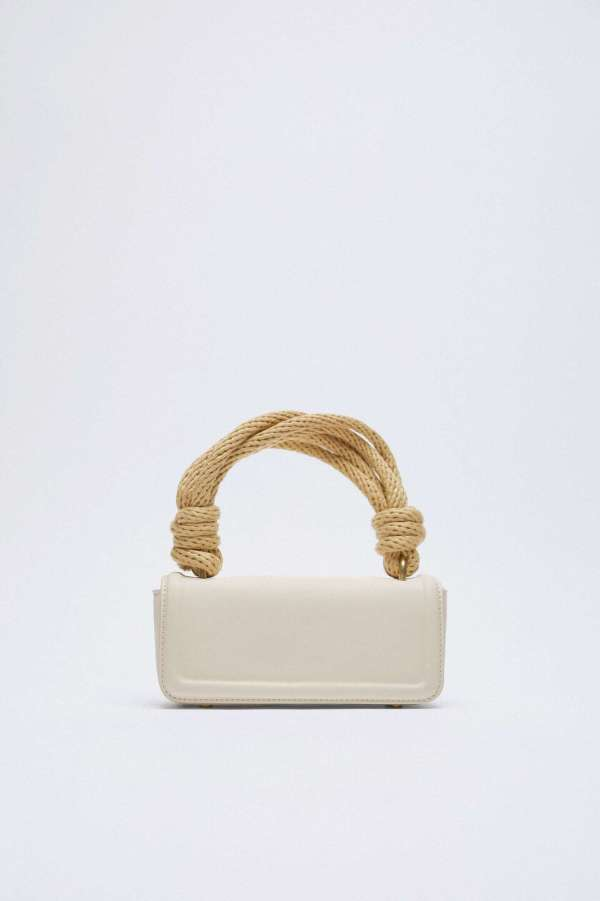 Rectangular Handbag With Rope Handle Zara