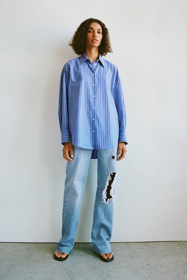 Zara Wide-Leg Full-Length Ripped Jeans