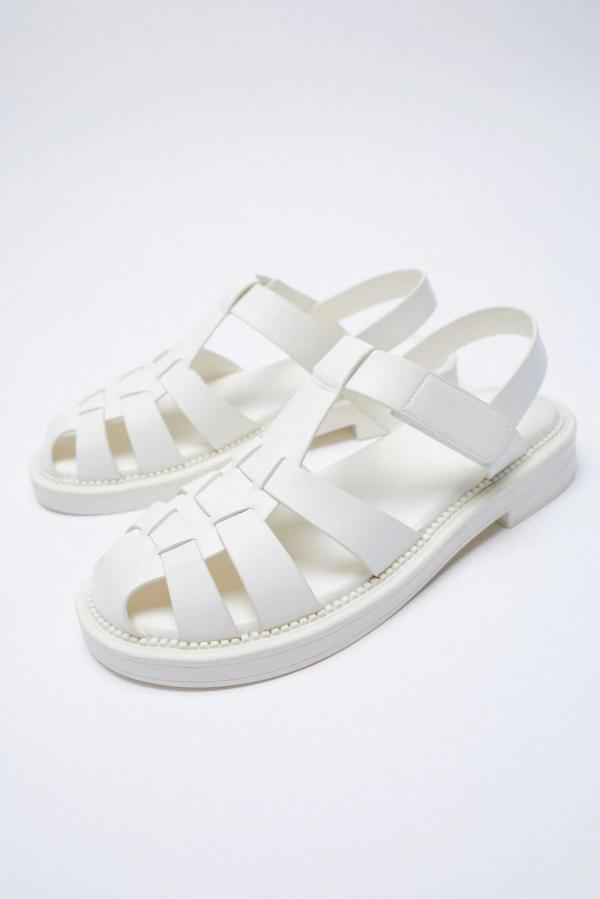 Zara Flat Cage Sandals