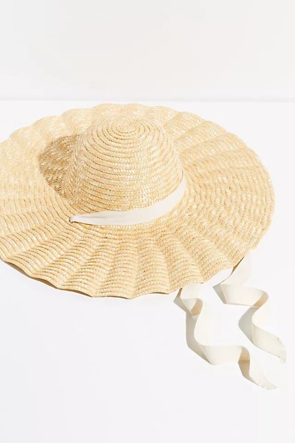 Free People Scalloped Straw Hat