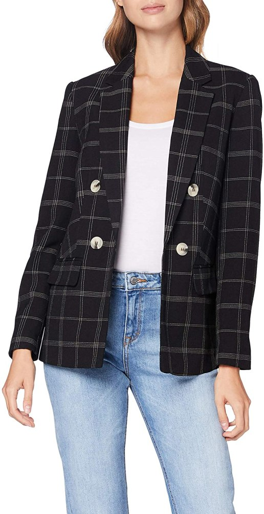 Dorothy Perkins Women's Black Edit Grid Check Jacket
