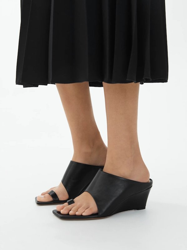 Arket Leather Wedge Mules
