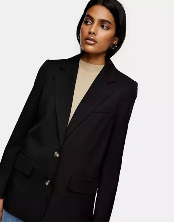 Topshop Single-Breasted Suit Blazer