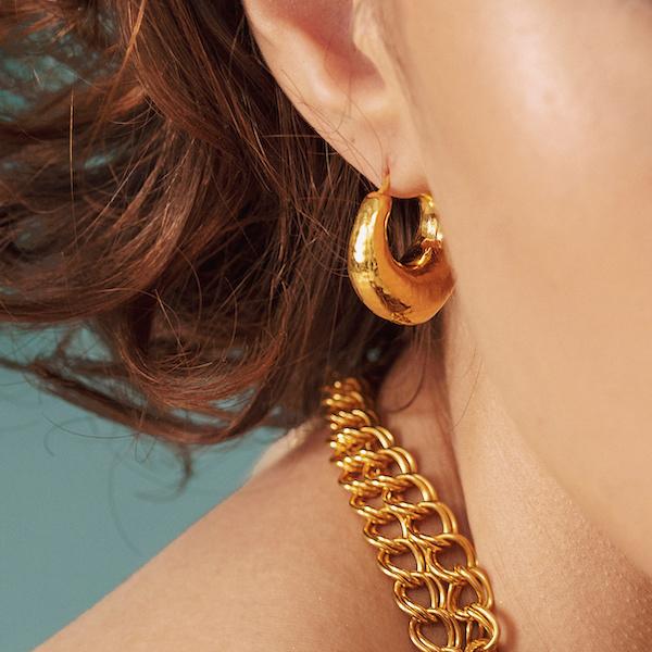 Monica Vinader Deia Chunky Hoop Earrings