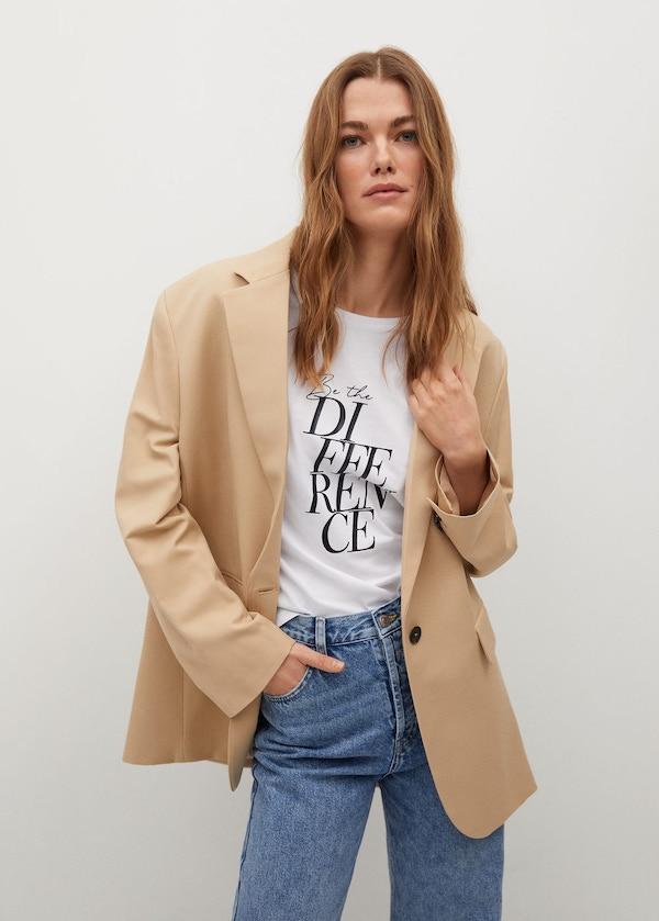 Mango Organic Printed Cotton T-Shirt