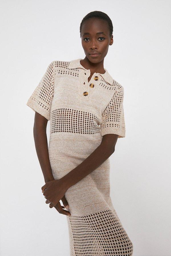 Warehouse Rustic Knit Dress