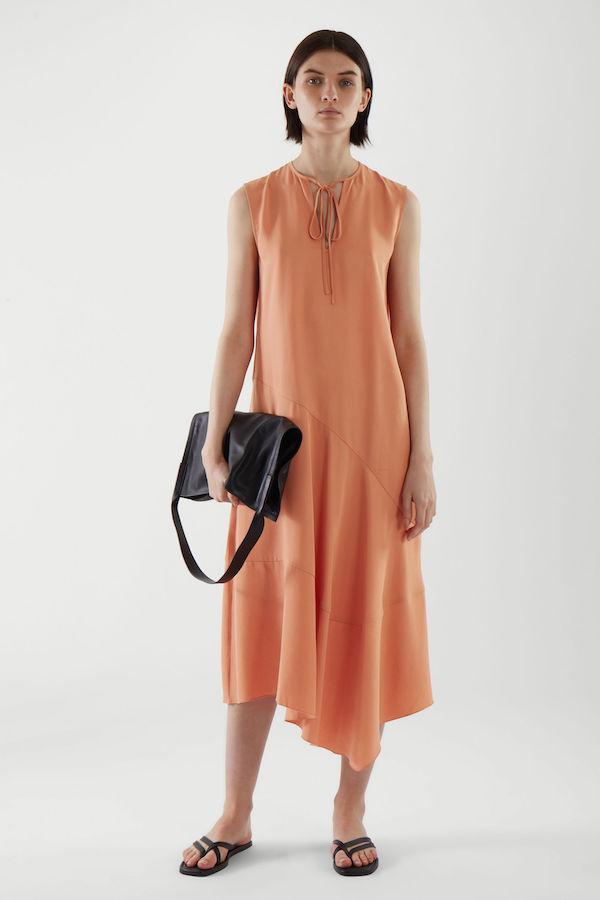 COS Draped Asymmetric Panel Dress
