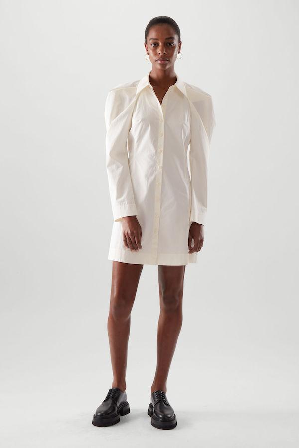 COS Draped Cotton Shirt Dress