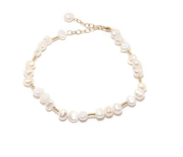 Summer 14K Gold Filled Freshwater Pearl Anklet (one size)