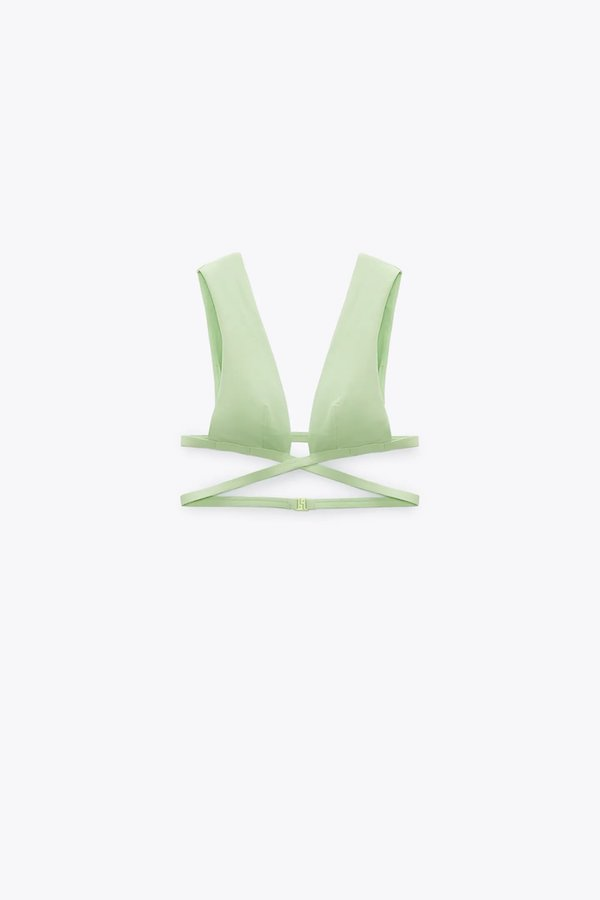 Zara Bikini Top With Crossover Straps