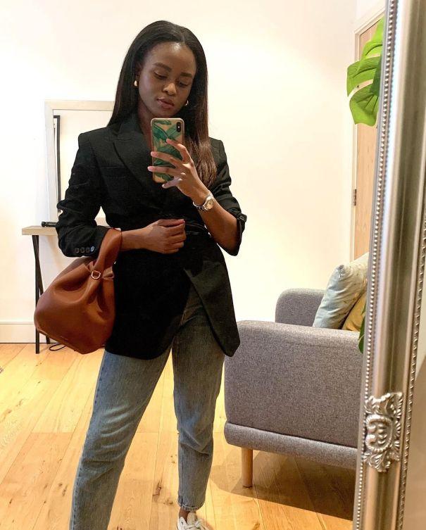 Enis Wardrobe wearing a blazer