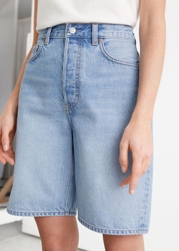 & Other Stories Spark Cut Denim Shorts