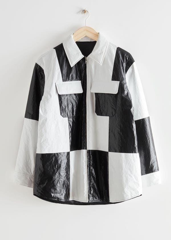& Other Stories Oversized Colour Block Overshirt