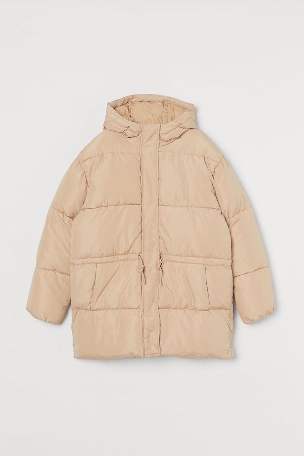 H&M Drawstring-Waist Puffer Jacket