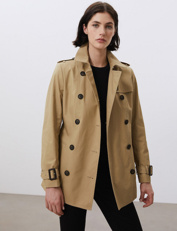 M&S Jaeger Pure Cotton Trench Coat