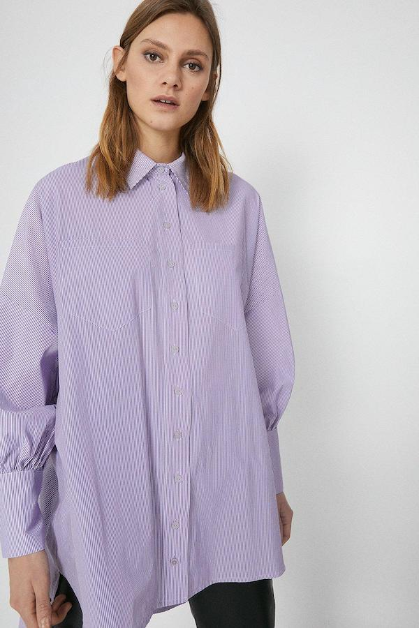 Warehouse Puff Sleeve Stripe Shirt