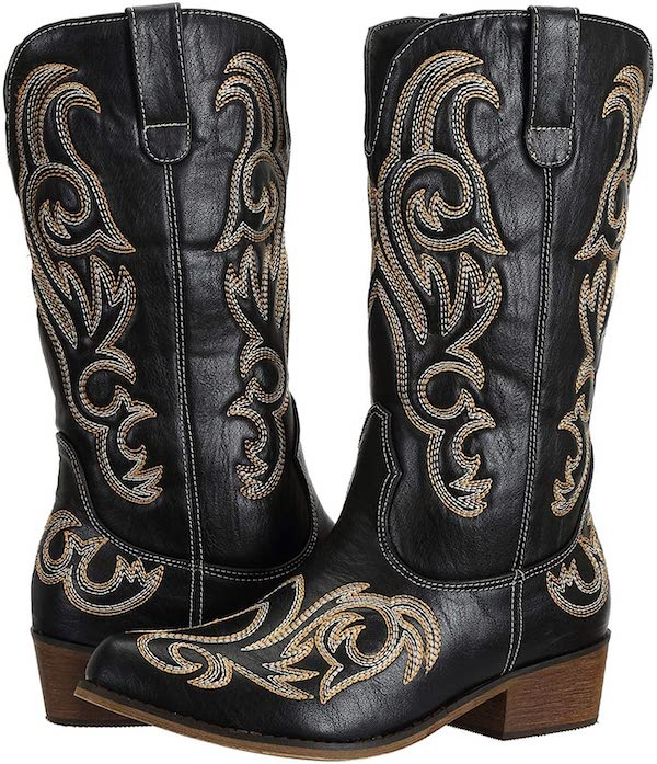 Wide Calf Western Cowgirl Cowboy Boots, £54.99, SheSole - buy now