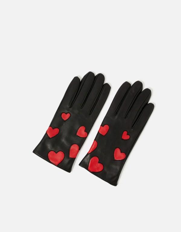 Heart Print Gloves, £25, Accessorize