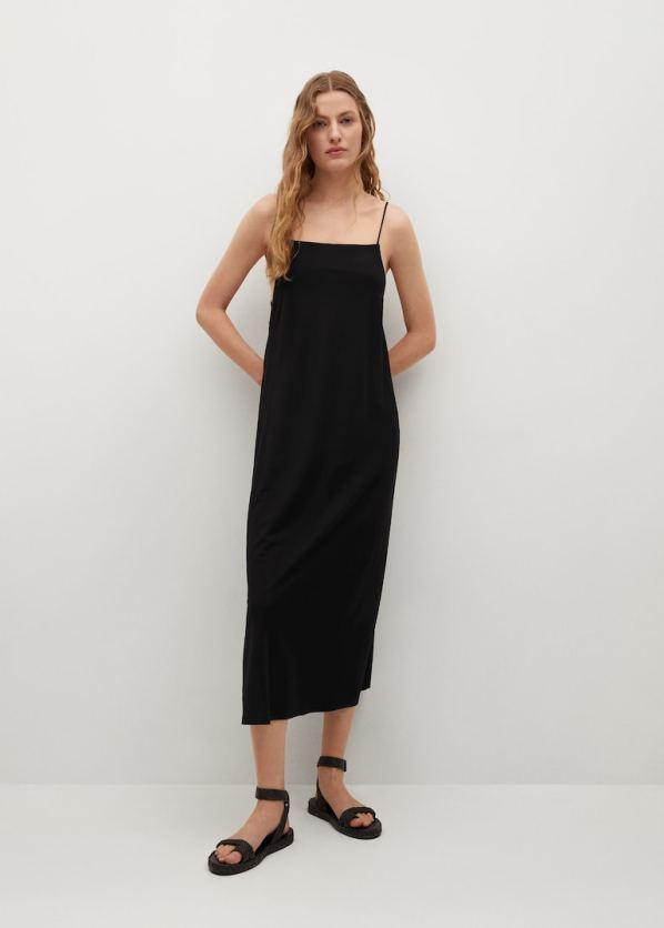 black Cut-out back dress, £29.99, Mango