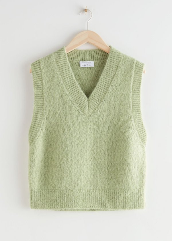 Oversized Wool Knit Vest