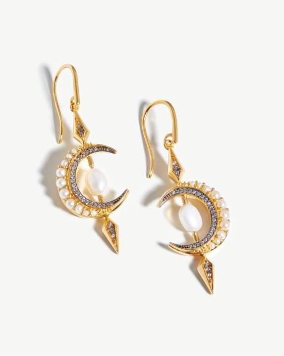 Harris Reed Crescent Moon Earrings