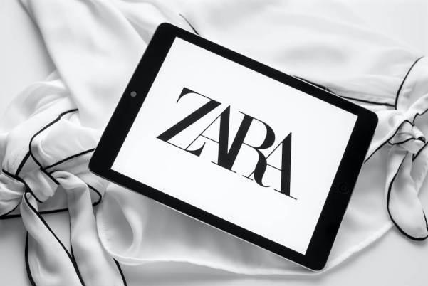 Zara logo on an iPad