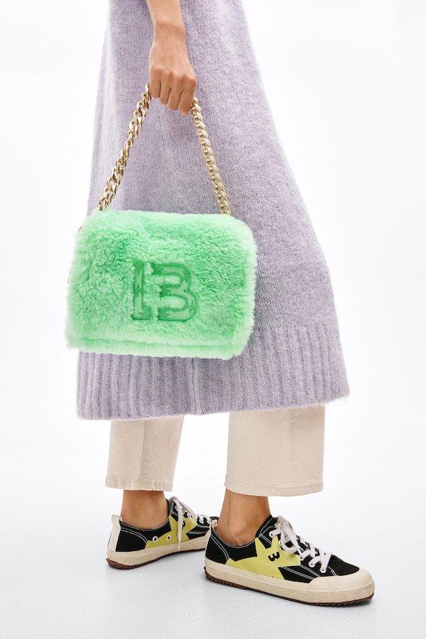 M Green Fur Bag Bimba Y Lola