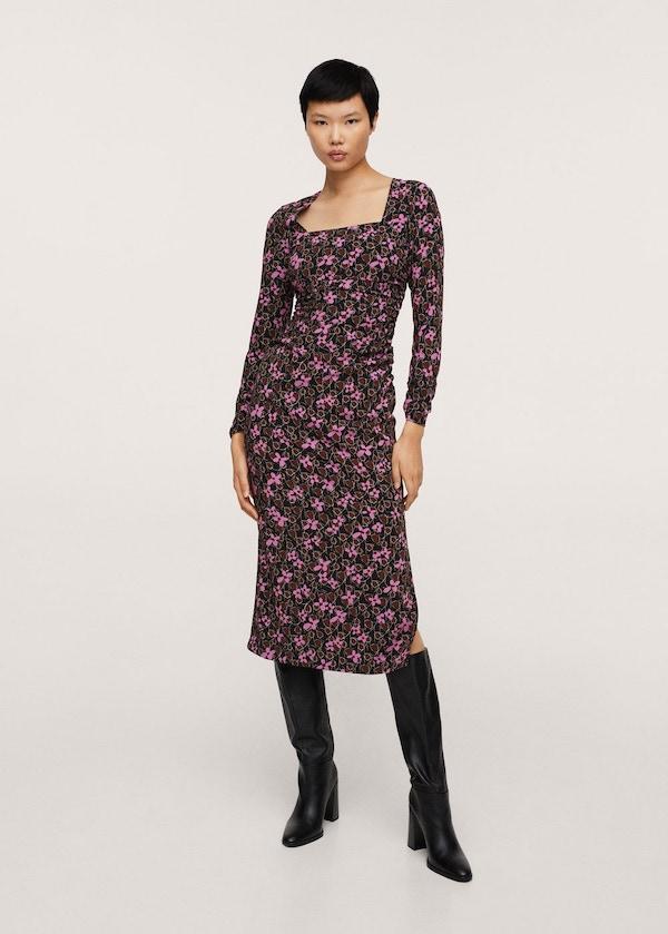 Flower Print Dress Mango