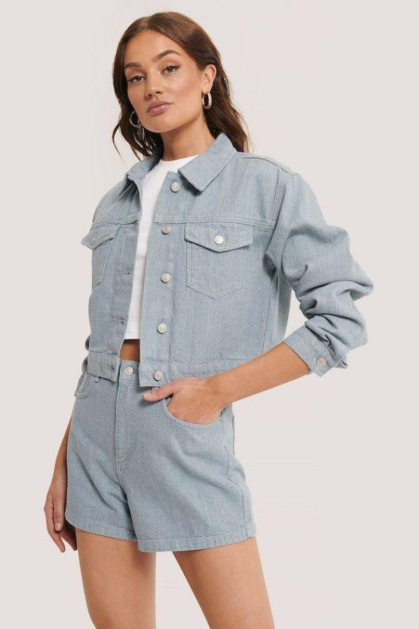 Recycled denim jacket, £44.95 or Pre-Loved, £34, NA-KD