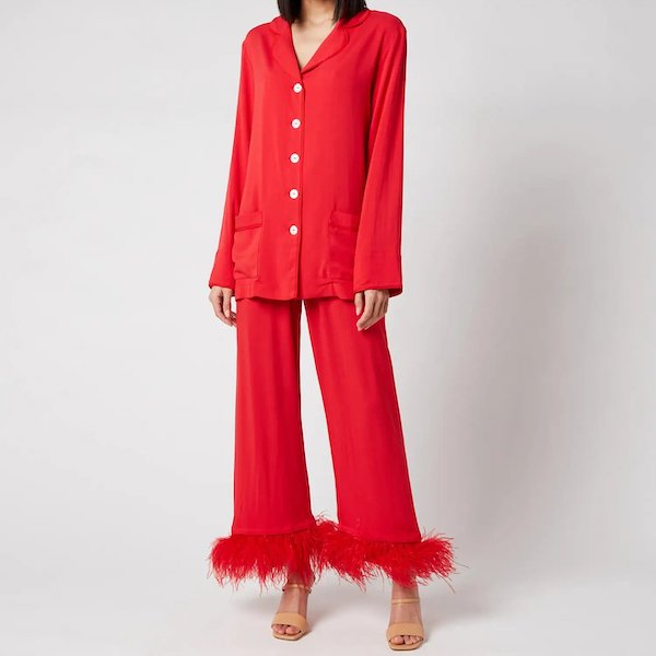 Women's Party Pyjama Set with Feathers Sleeper at Coggles