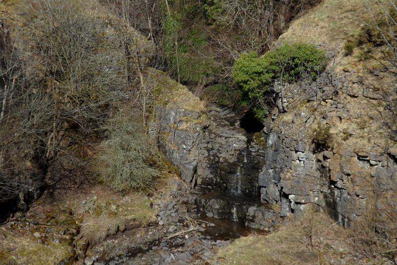 Waterfall on Reahope Burn, Stanhope