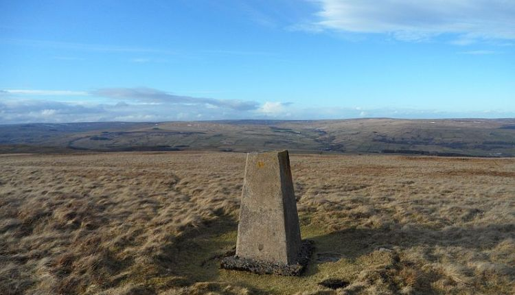 Weardale from the Trig point at Carrs Top