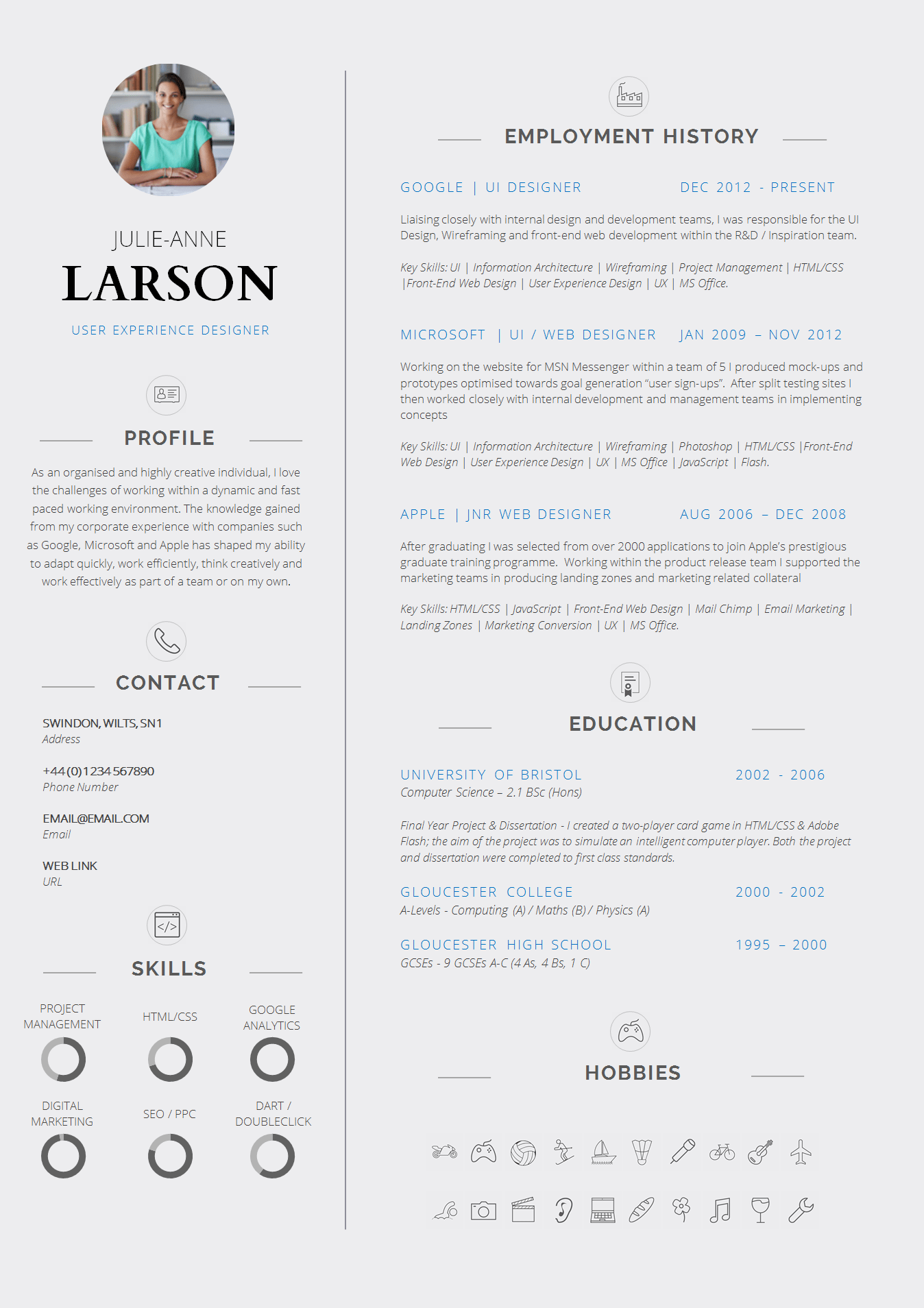 slick resume templates
