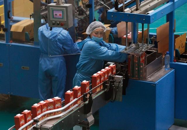 Women Working in North Korea - Factory
