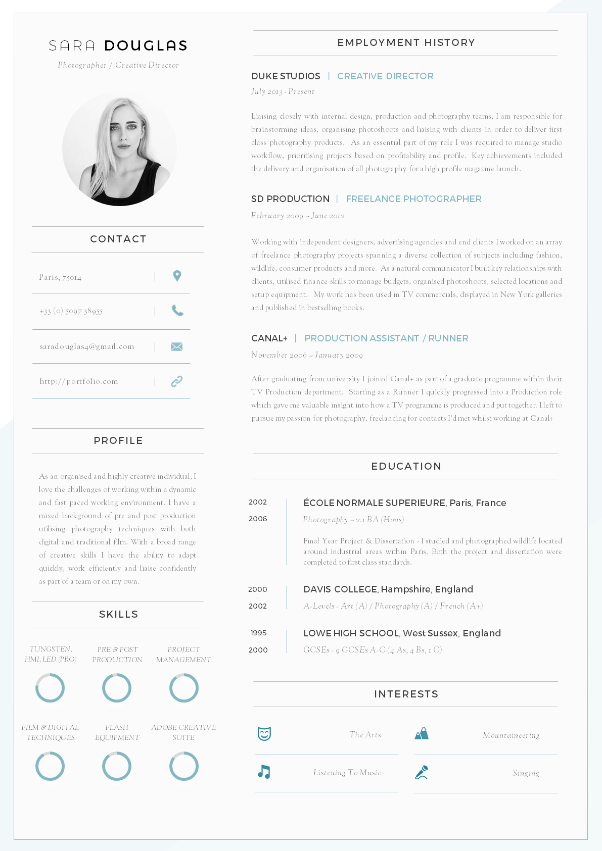 Resume Cv Template Download 43 Modern Resume Templates Guru