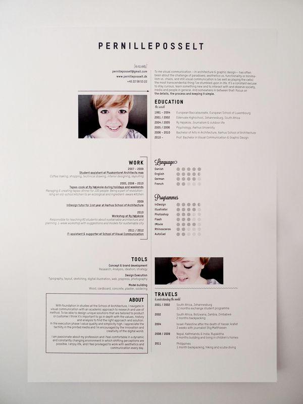 design resume examples pinterest